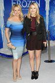 LOS ANGELES - NOV 19: Taylor Spreitler, Melissa Joan Hart at the premiere of Walt Disney Animation Studios' 'Frozen' at the El Capitan Theater on November 19, 2013 in Los Angeles, CA