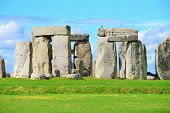 pic of stonehenge  - Stonehenge an ancient prehistoric stone monument near Salisbury Wiltshire UK - JPG