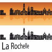 La Rochelle Skyline In Orange Background