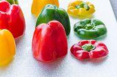 Yellow, Red, Green Bell Pepper