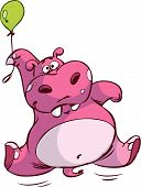 hippo on balloon