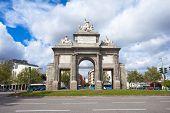 Gate Of Toledo (puerta De Toledo) On A Sunny Spring Day In Madrid