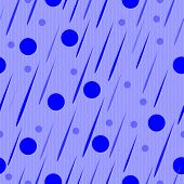 Blue Abstract Drops