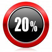 20 percent icon sale sign