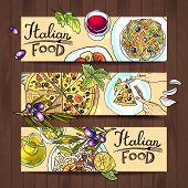 horizontal banners italian food