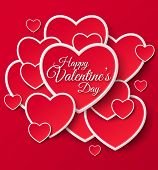 stock photo of happy day  - Happy Valentines Day Greeting Card - JPG