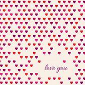 Love You Heart Pattern Card Design