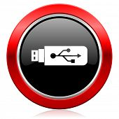 usb icon flash memory sign
