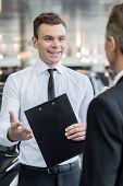Salesman And Customer.