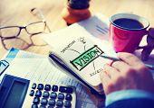 Digital Online Vision Creativity Business Working Concept