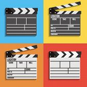Cinema Clapperboard Vector Icons