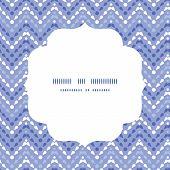 Vector purple drops chevron circle frame seamless pattern background