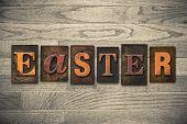 Easter Concept Wooden Letterpress Type
