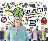 Ethnicity People Team Leadership Security Protection Concept