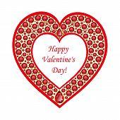 Heart Of Rubies Vector Card