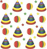 seamless background from childrens' toys