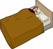 Anxious Man Unable To Sleep