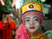 Boy Dressed In Traditional Festival Costumes In Chiang Mai, Thailand