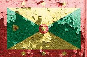 Grenada Flag painted on concrete wall