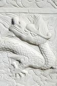 Carved dragon in a chinese wall