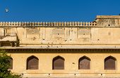 Elevation View Of Amber Fort In Jaipur