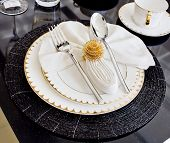 Luxury Table Setting For Dine In Hotel