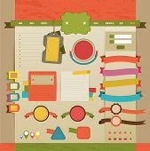 Vintage Web And Tags Design Layout, Create By Vector
