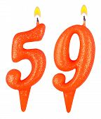 Birthday Candles Number Fifty Nine