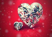 Diamond Jewel ,high Resolution 3D Image, Vintage Style