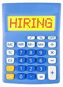 Calculator With Hiring