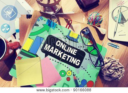 Online Marketing Promotion Branding Advertisement Concept