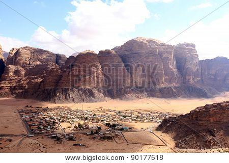 Beautiful view of the wadi