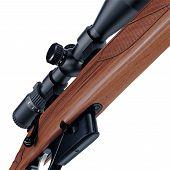 pic of gunshot  - Nice and ergonomic assault rifle detailed bottom view - JPG