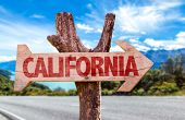 image of bayou  - California wooden sign with road background - JPG