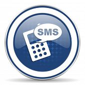 image of sms  - sms icon phone sign  - JPG