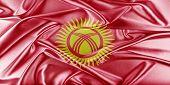Постер, плакат: Kyrgyzstan Flag