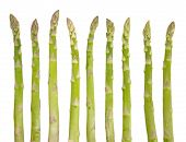 picture of white asparagus  - Fresh green asparagus isolated on white background - JPG