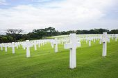 picture of kill  - The Manila American Cemetery and Memorial with some of its 17206 graves - JPG