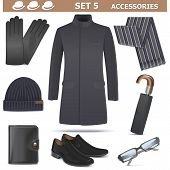 picture of spectacles  - Vector Male Accessories Set 5 - JPG