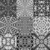 pic of lace-curtain  - Set of curtain lace generated textures or backgrounds - JPG