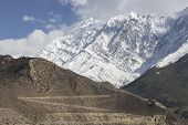 stock photo of mustang  - Jomsom city in lower Mustang district Nepal - JPG