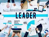 stock photo of role model  - Leader Leadership Coach Guide Role Model Concept - JPG