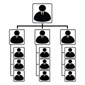 foto of human pyramid  - vector illustration of pyramid scheme with a business theme - JPG