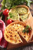 image of leek  - leek quiche and quiche lorraine - JPG