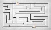 stock photo of maze  - Maze Puzzle Strategy Direction Strategy Challenge Concept - JPG