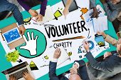 picture of charity relief work  - Volunteer Charity Help Sharing Giving Donate Assisting Concept - JPG