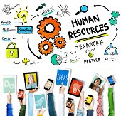 picture of recruiting  - Human Resources Employment Job Recruitment Profession Concept - JPG