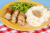 City Chicken Plate