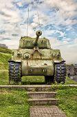 image of m4  - WWII M4 Sherman Tank at La Citadelle in Quebec City - JPG