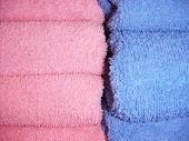 Towels  Pink And Blue